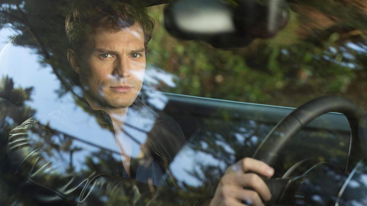 Jamie Dornan appears in a scene from the 2015 film Fifty Shades of Grey.