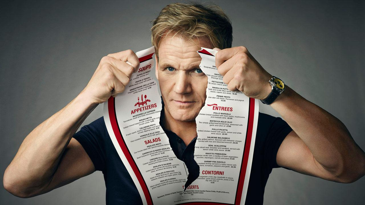 Chef Gordon Ramsay appears in a promotional photo for season 7 of Kitchen Nightmares in 2014.