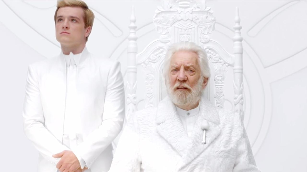 Donald Sutherland and Josh Hutcherson appear in a teaser trailer for The Hunger Games: Mockingjay - Part 1, which was released on June 25, 2014.