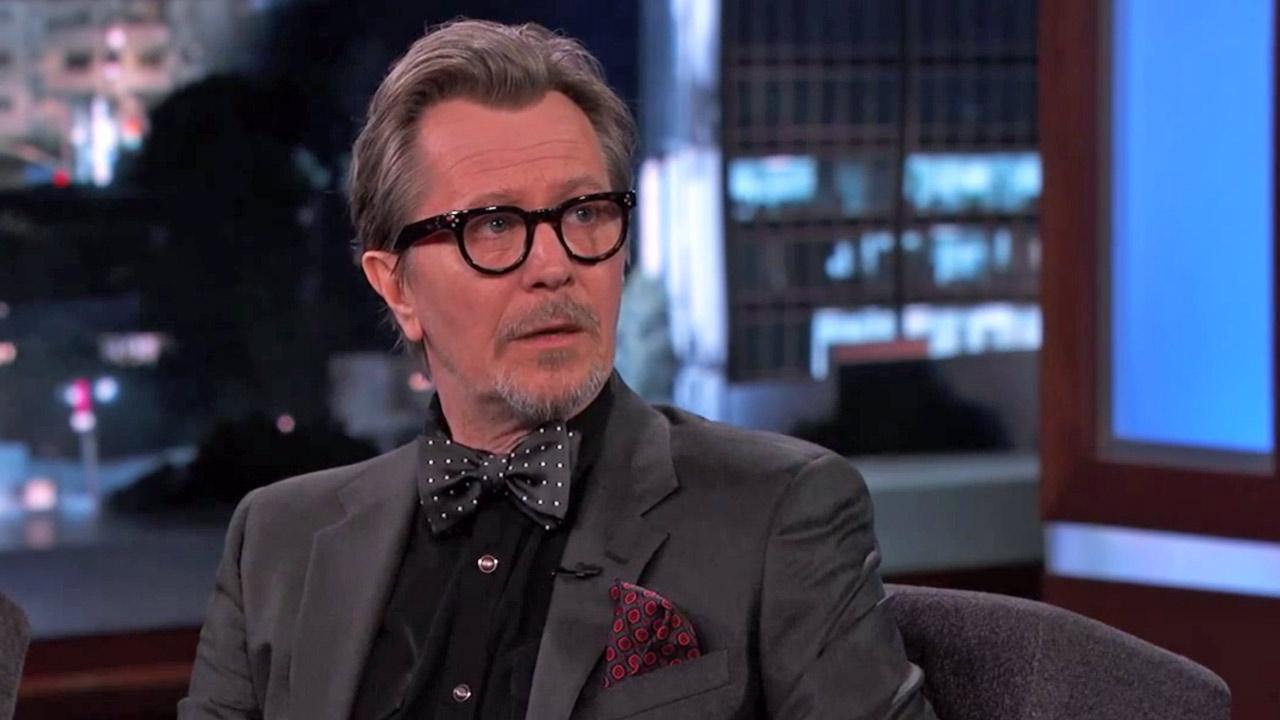 Gary Oldman appears on Jimmy Kimmel Live on June 25, 2014.
