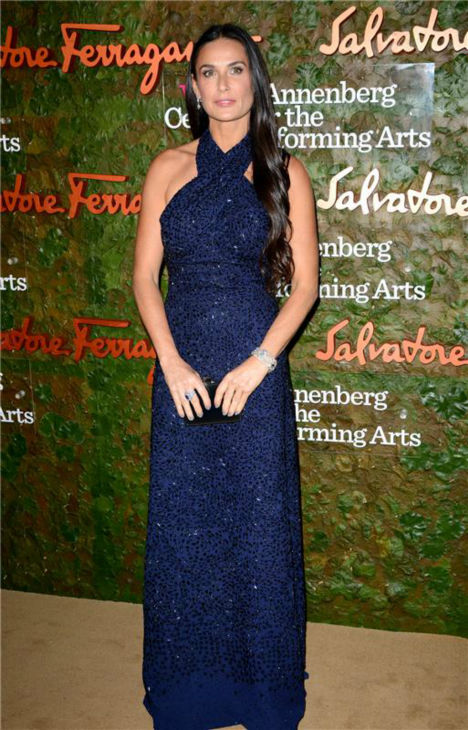 Demi Moore attends the Wallis Annenberg Center for the Performing Arts Inaugural Gala, presented by Salvatore Ferragamo, at the Wallis Annenberg Center in Beverly Hills on Oct. 17, 2013. <span class=meta>(Lionel Hahn &#47; AbacaUSA &#47; Startraksphoto.com)</span>