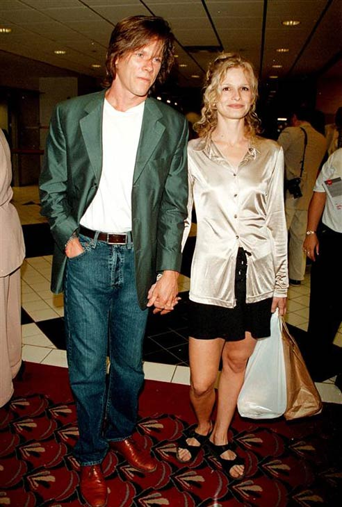 Kevin Bacon and wife Kyra Sedwick appear at the premiere of 'Harriet The Spy' in New York on July 9, 1996.