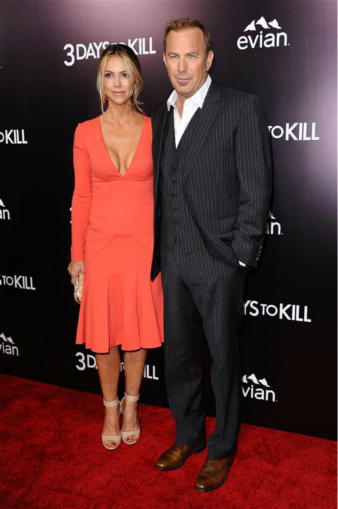 Kevin Costner and Christine Baumgartner appear at the premiere of the movie &#39;3 Days To Kill&#39; in Los Angeles on Feb. 12, 2014. <span class=meta>(Sara De Boer &#47; Startraksphoto.com)</span>