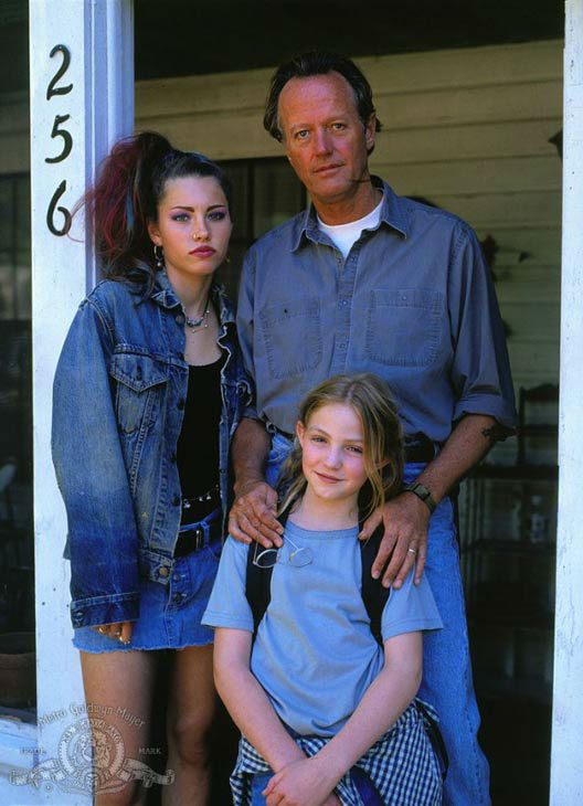 Peter Fonda, Jessica Biel and Vanessa Zima appear in a still from the 1997 film, 'Ulee's Gold.'