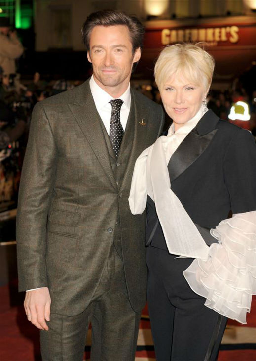 Hugh Jackman and wife Deborah Lee Furness appear at the premiere of &#39;Australia&#39; in London on Dec. 10, 2008. The two wed in April 1996 and have a son and daughter. <span class=meta>(Richard Young &#47; Startraksphoto.com)</span>