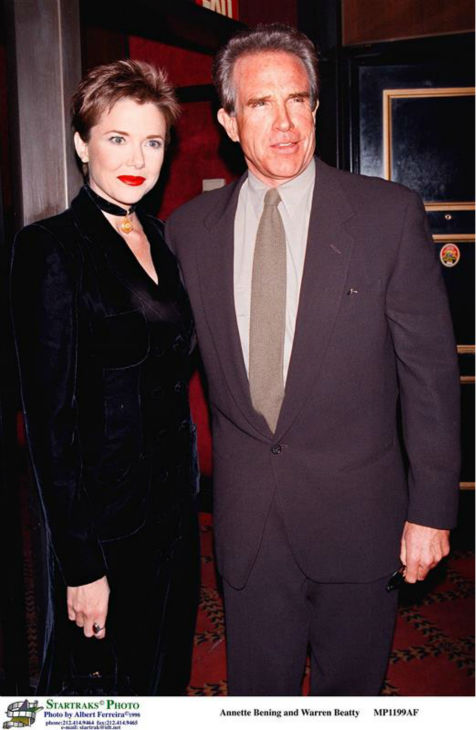 Annette Bening and husband Warren Beatty appear in New York on Dec. 18, 1998. The two married in March 1992 and have four children. <span class=meta>(Startraksphoto.com)</span>