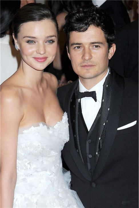 Miranda Kerr and Orlando Bloom attend the &#39;Alexander McQueen - Savage Beauty&#39; Costume Institute Gala at the Metropolitan Museum Of Art in New York on May 2, 2011. <span class=meta>(RPT &#47; Startraksphoto.com)</span>