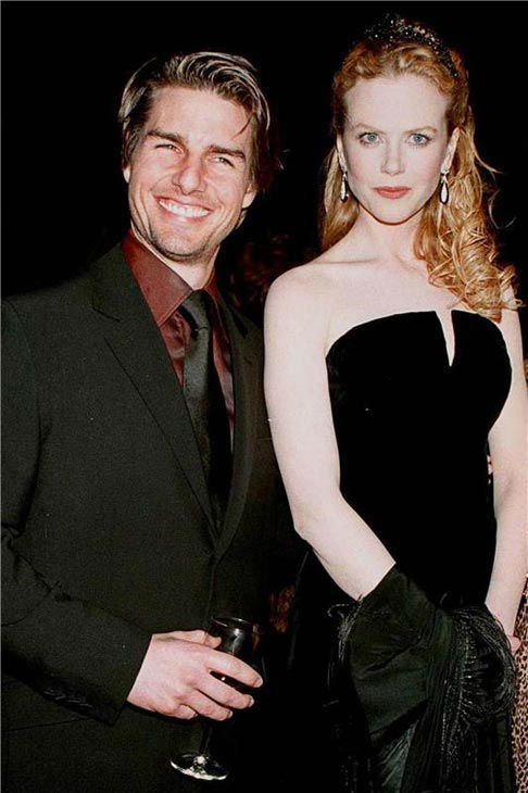 Nicole Kidman and Tom Cruise appear at Time Magazine 75th birthday party in 1998.