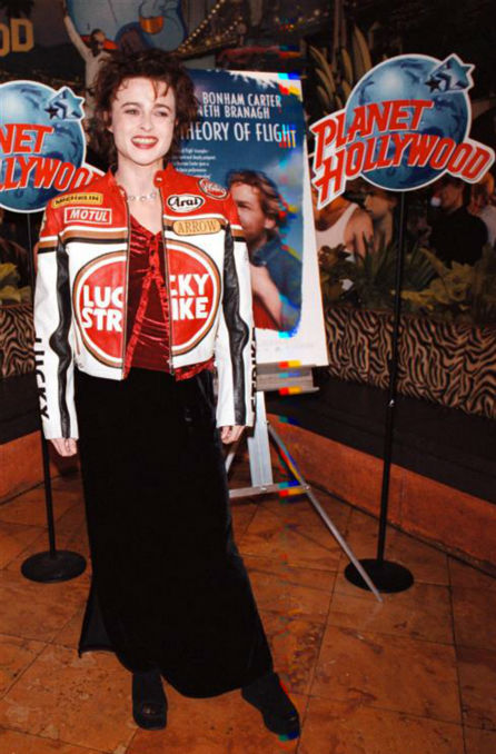 Helena Bonham Carter appears at Planet Hollywood New York on March 3, 1999. <span class=meta>(Startraksphoto.com)</span>