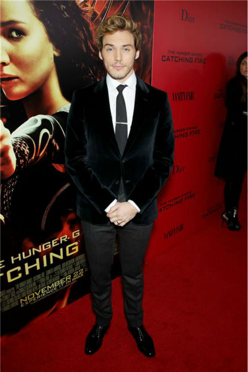 &#39;The Hunger Games: Catching Fire&#39; actor Sam Claflin &#40;Finnick Odair&#41; attends the premiere of the movie in New York on Nov. 20, 2013. <span class=meta>(Marion Curtis &#47; Startraksphoto.com)</span>