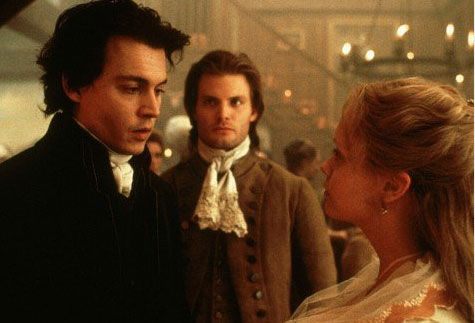 Johnny Depp, Christina Ricci and Casper Van Dien appear in a scene from the 1999 film 'Sleepy Hollow.'
