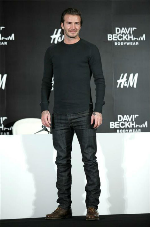 David Beckham appears at an H&#43;M press conference in Shanghai, China on Nov. 21, 2013. The soccer star is a spokesmodel for the brand. <span class=meta>(Top Photo &#47; Startraksphoto.com)</span>
