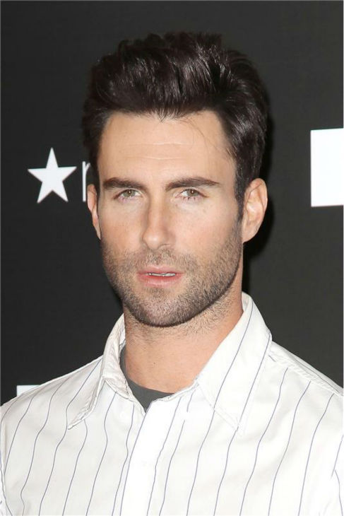 The 'Perfectly-Perfect' stare: Adam Levine attends a launch party for his signature fragrance, 'Adam Levine,' at Macys in Herald Square in New York City on Feb. 15, 2013.