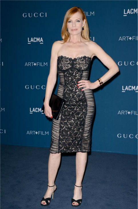 Marg Helgenberger of &#39;CSI&#39; fame appears at the LACMA Art and Film Gala, honoring Martin Scorsese And David Hockney, at the Los Angeles County Museum of Art on Nov. 2, 2013. <span class=meta>(Lionel Hahn &#47; AbacaUSA &#47; Startraksphoto.com)</span>