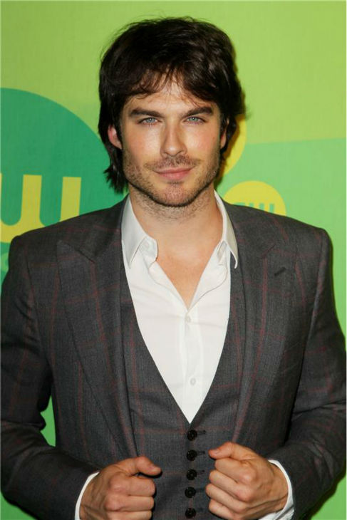 "<div class=""meta image-caption""><div class=""origin-logo origin-image ""><span></span></div><span class=""caption-text"">The 'Dressed-To-Thrill' stare: Ian Somerhalder appears at the CW Network's 2013 Upfront Presentation in New York on May 16, 2013. (Amanda Schwab / Startraksphoto.com)</span></div>"