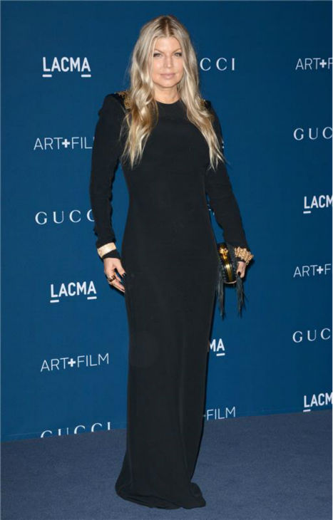 Fergie appears at the LACMA Art and Film Gala, honoring Martin Scorsese And David Hockney, at the Los Angeles County Museum of Art on Nov. 2, 2013.
