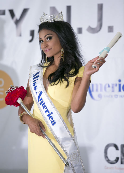 Nina Davuluri, Miss New York and the new Miss America 2014 appears after the annual pageant in Atlantic City, New Jersey on Sept. 15, 2013. <span class=meta>(Miss America Organization)</span>