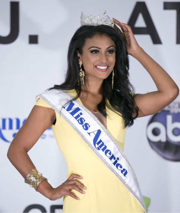 Nina Davuluri, Miss New York and the new Miss America 2014 appears after the annual pageant in Atlantic City, New Jersey on Sept. 15, 2013.