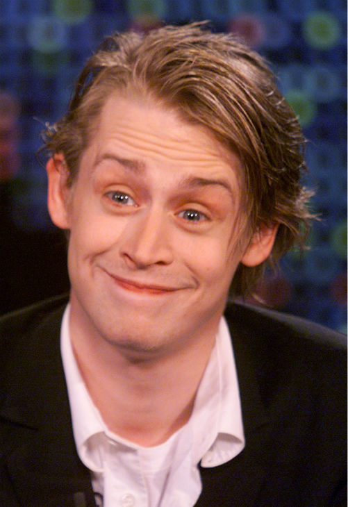 Actor Macaulay Culkin is shown during an...