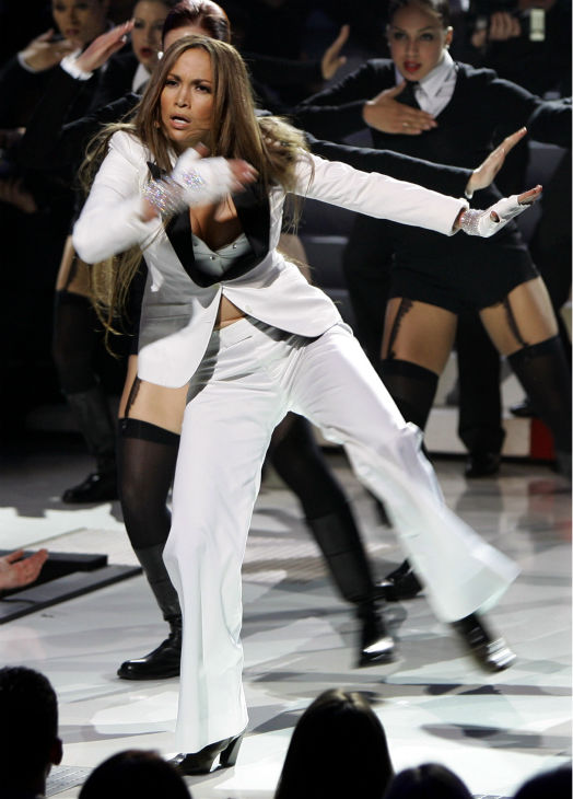 "<div class=""meta ""><span class=""caption-text "">U.S. singer and actress Jennifer Lopez performs during the NRJ music awards in Cannes, southern France on Saturday, Jan. 22, 2005. (AP Photo / Eric Gaillard / Pool)</span></div>"