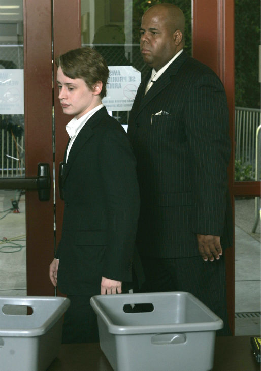 Macaulay Culkin arrives to testify at Michael...