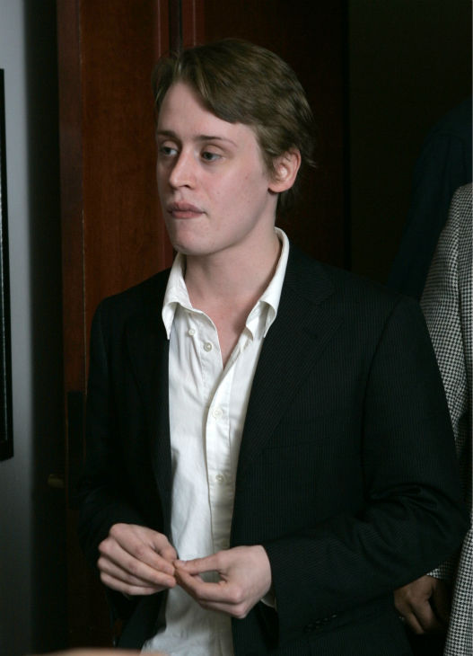 Macaulay Culkin takes a recess after testifying...
