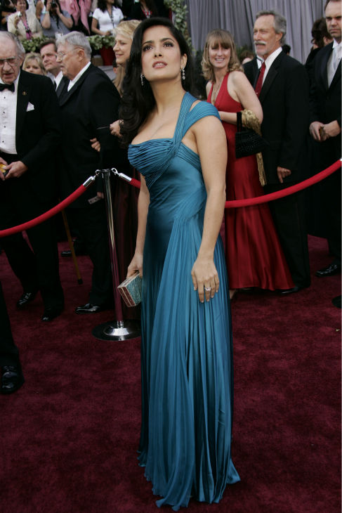 Salma Hayek arrives for the 78th Academy Awards  in Los Angeles on March 5, 2006.