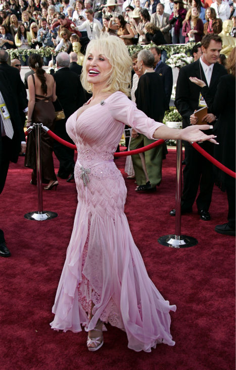 Country singer and songwriter Dolly Parton, nominated for an Oscar for best original song for 'Travelin' Thru' from the film 'Transamerica,' arrives for the 78th Academy Awards on Sunday, March 5, 2006, in Los Angeles.