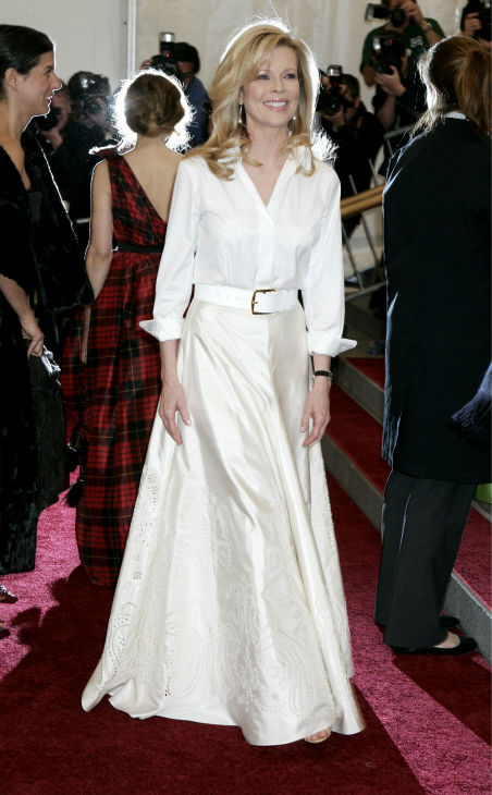 Kim Basinger arrives at the Costume Institute Gala at the Metropolitan Museum of Art in New York on May 1, 2006.