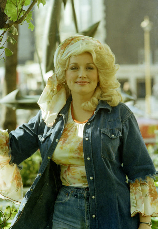 Country singing star Dolly Parton is seen in 1977.