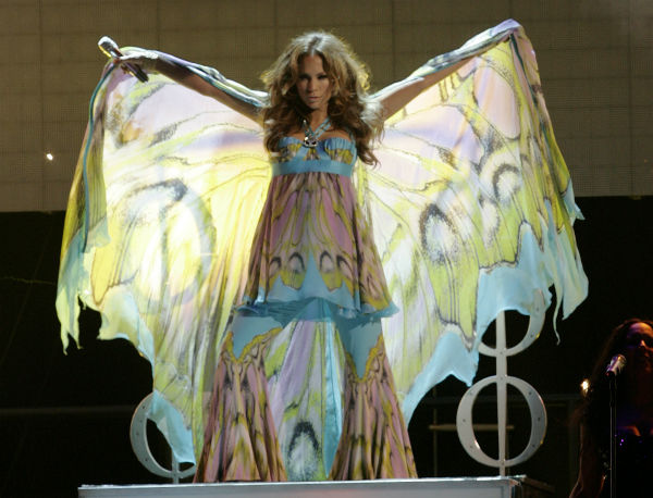 Jennifer Lopez performs while on a concert tour with her husband Marc Anthony in Miami on Friday, Nov. 2,  2007. <span class=meta>(AP Photo &#47; Lynne Sladky)</span>