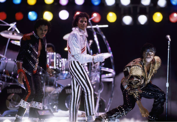Michael Jackson performs a U.S. concert on July 1, 1984 during his Victory tour. <span class=meta>(AP Photo)</span>