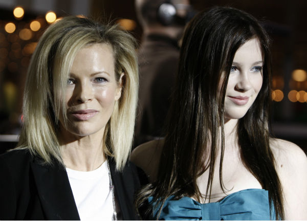 Kim Basinger, left, and her daughter, Ireland...