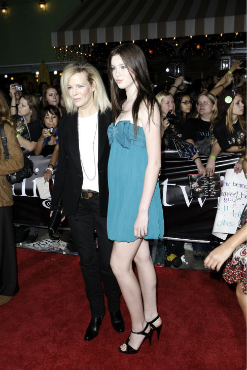 Kim Basinger, left, and her daughter, Ireland Baldwin, attend the premiere of 'Twilight' in Los Angeles on Nov. 17, 2008.