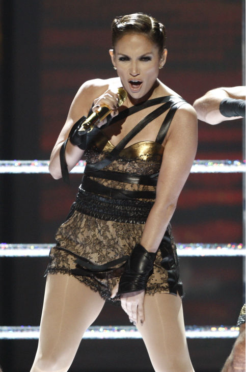 Jennifer Lopez performs at the 37th annual American Music Awards in Los Angeles on Sunday, Nov. 22, 2009. <span class=meta>(AP Photo &#47; Matt Sayles)</span>