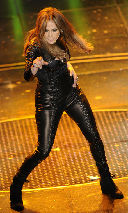 Jennifer Lopez performs during the &#39;Festival di Sanremo&#39; Italian song contest at the Ariston theater in San Remo, Italy on Friday, Feb. 19, 2010. <span class=meta>(AP Photo &#47; Alberto Pellaschiar)</span>