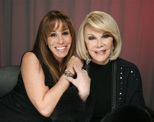 TV personalities Melissa, left, and Joan Rivers pose for a portrait Tuesday, Jan. 18, 2011 in New York.