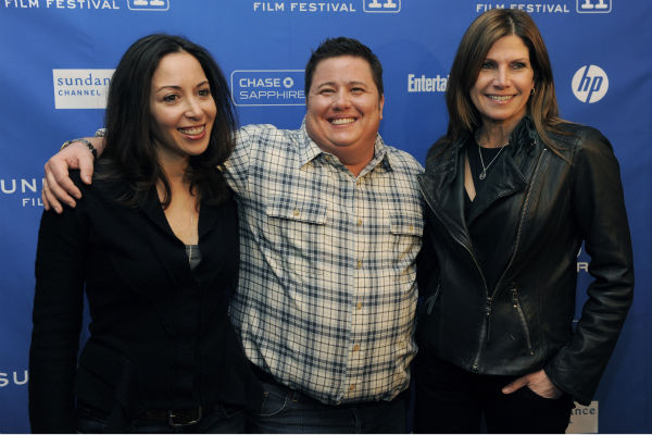 Chaz Bono, center, subject of the Oprah Winfrey...