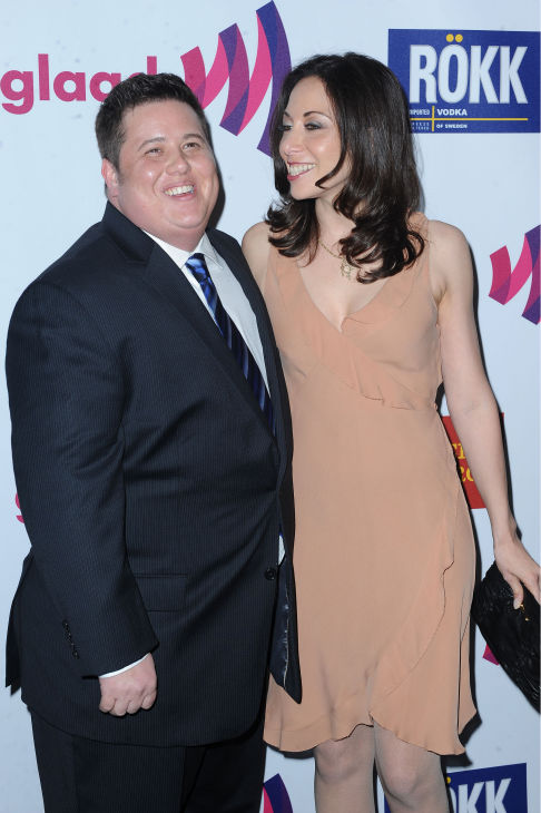 Chaz Bono, at left, and Jennifer Ella arrive to...