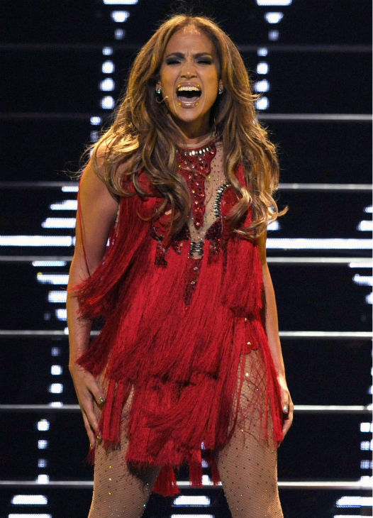 Jennifer Lopez performs during the iHeartRadio music festival in Las Vegas on Saturday, Sept. 24, 2011.