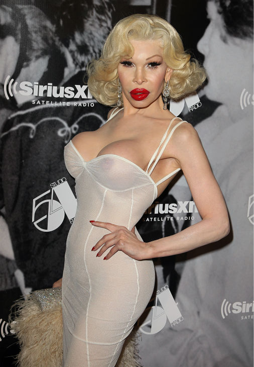 Amanda Lepore attends the Sirius XM reopening of Studio 54 for &#39;One Night Only&#39; at Studio 54 in New York City on Tuesday, Oct. 18, 2011. <span class=meta>(AP Photo  &#47; Donald Traill)</span>