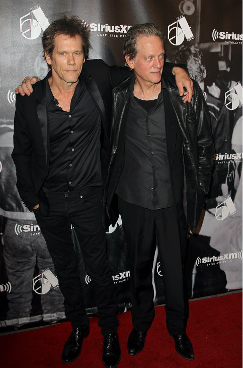 Actor Kevin Bacon and his brother Michael Bacon attend the Sirius XM reopening of Studio 54 for &#39;One Night Only&#39; at Studio 54 in New York City on Tuesday, Oct. 18, 2011. <span class=meta>(AP Photo &#47; Donald Traill)</span>