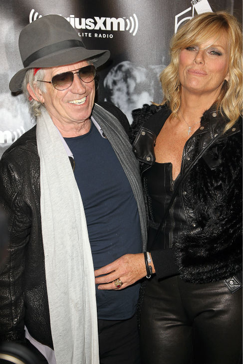 Musician Keith Richards and wife Patti Hanson attend the Sirius XM reopening of Studio 54 for &#39;One Night Only&#39; at Studio 54 in New York City on Tuesday, Oct. 18, 2011. <span class=meta>(AP Photo &#47; Donald Traill)</span>