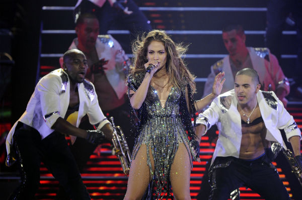 Jennifer Lopez performs at Mohegan Sun during its 15th anniversary celebration in Uncasville, Connecticut on Saturday, Oct. 22, 2011. <span class=meta>(AP Photo &#47; Fred Beckham)</span>