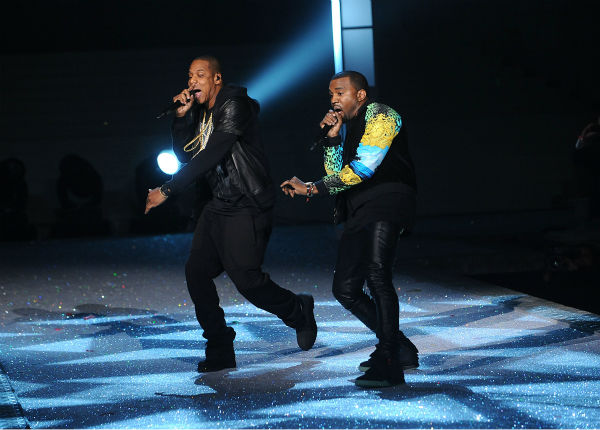 Kanye West and Jay-Z perform during the Victoria&#39;s Secret fashion show in New York, Wednesday, Nov. 9, 2011. <span class=meta>(AP Photo &#47; Brad Barket)</span>