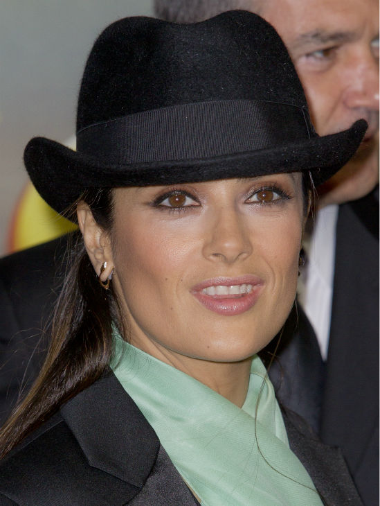 Salma Hayek arrives for the UK Premiere of DreamWorks Animation's 'Puss in Boots' in London on Nov. 24, 2011.