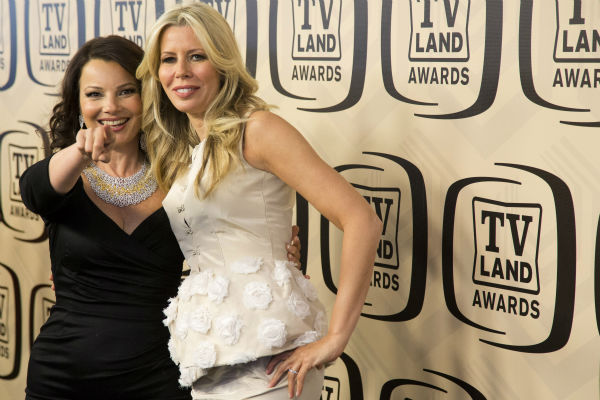 "<div class=""meta image-caption""><div class=""origin-logo origin-image ""><span></span></div><span class=""caption-text"">Fran Drescher, left, and sister Aviva Drescher arrive to the TV Land Awards 10th Anniversary in New York on April 14, 2012. (AP Photo / Charles Sykes)</span></div>"