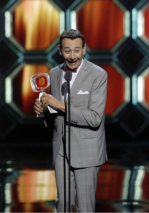 "<div class=""meta image-caption""><div class=""origin-logo origin-image ""><span></span></div><span class=""caption-text"">Paul Reubens accepts the Pop Culture Award as Pee-wee Herman during the TV Land Awards on April 14, 2012 in New York. (AP Photo / Jason DeCrow)</span></div>"