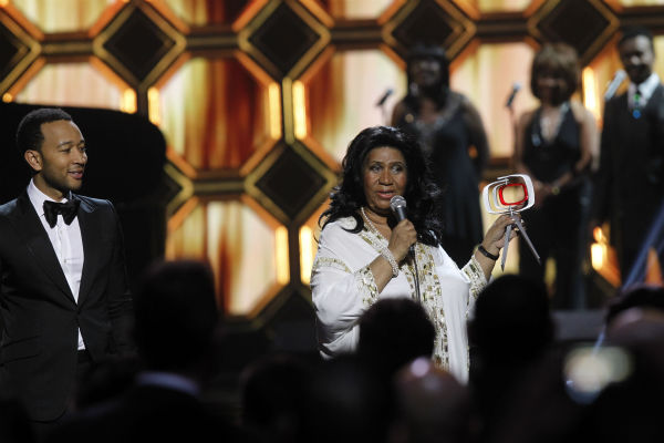 "<div class=""meta image-caption""><div class=""origin-logo origin-image ""><span></span></div><span class=""caption-text"">John Legend presents Aretha Franklin with the Music Icon Award during the TV Land Awards on April 14, 2012 in New York. (AP Photo / Jason DeCrow)</span></div>"