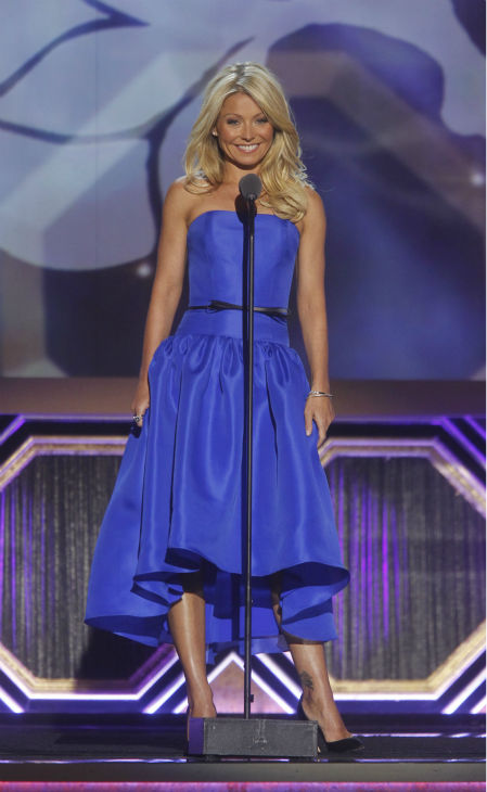 "<div class=""meta image-caption""><div class=""origin-logo origin-image ""><span></span></div><span class=""caption-text"">Kelly Ripa hosts the TV Land Awards on April 14, 2012 in New York. The ceremony aired on the cable channel on April 29. (AP Photo / Jason DeCrow)</span></div>"